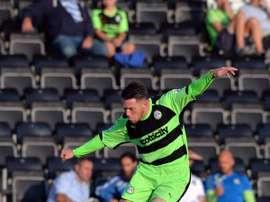 El jugador del Forest Green Rovers en un partido. FGRFC