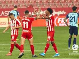 El Girona ganó por la mínima al Almería. LaLiga