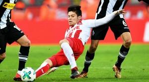 Jorge Meré, dans le viseur de l'Atlético. EFE