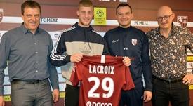 Lacroix firmó su primer contrato profesional. FCMetz