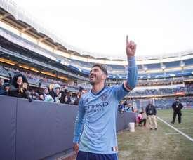 Villa marcó su primer gol de la temporada en su partido 100 en la MLS. NewYorkCity