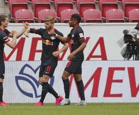RB Leipzig beat Mainz 5-0. Twitter/RB Leipzig