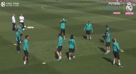 Cristiano asombró a todos en el entrenamiento. RealMadridCF