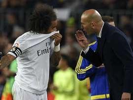 Marcelo, a grande dúvida para o derby. AFP