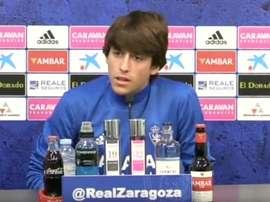 Delmás sueña con ascender con el Zaragoza. RealZaragoza