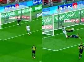Chernov salva sua equipe do empate. Captura