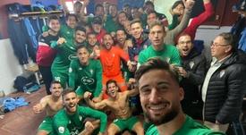 El Badajoz es ahora sexto en la tabla. Twitter/GabiRamos