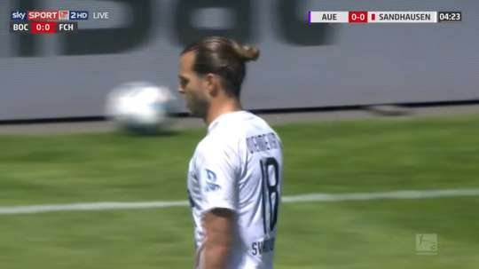 Player gets carded after months without playing because of COVID-19. Screenshot/skySPORT2HD