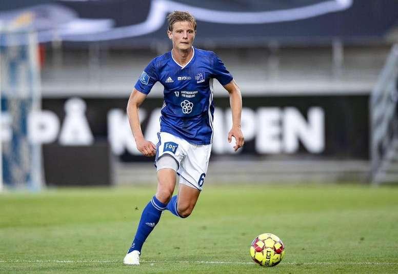 Frederik Winther, en la agenda de tres clubes. Twitter/LyngbyBoldklub