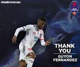 Guyon Fernández cerró una etapa con el Delhi Dynamos. Twitter/DelhiDynamos