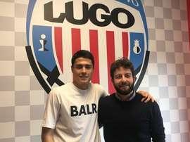 Rama vestirá los colores del Lugo la próxima temporada. Twitter/CDLugo