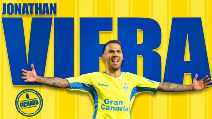 Jonathan Viera vuelve a Las Palmas. Twitter/UDLP_Oficial