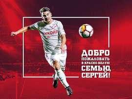 Eremenko est prêté en Russie. twitter/FCSpartakMoscow