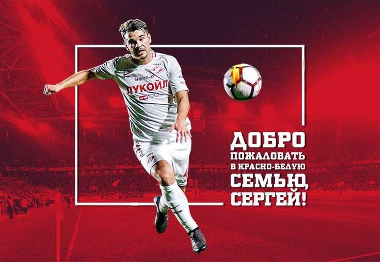 Eremenko jugará como cedido en Rusia. Twitter/FCSpartakMoscow