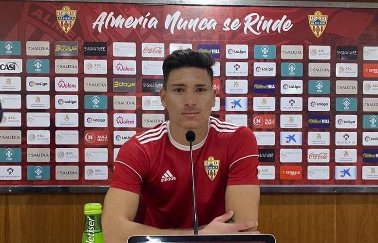 El Almería se enfrenta al Elche. Twitter/UDAlmería