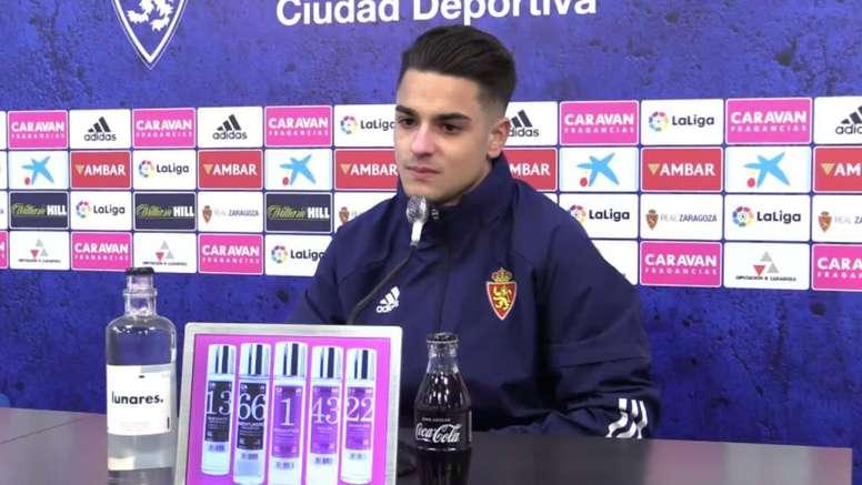 Bermejo analizó la situación del Zaragoza. Captura/YouTube/RealZaragoza