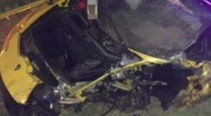 Marcin Bulka a eu un accident avec sa Lamborghini. Twitter/Directfutbolec