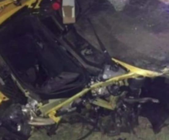 Bulka destrozó un Lamborghini. Twitter/Directfutbolec