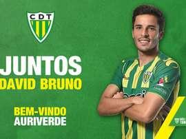 David Bruno, nuevo jugador de Tondela. CDTondela