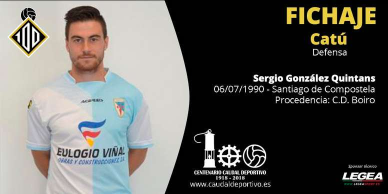Sergio González 'Catú', nuevo jugador de Caudal Deportivo. CaudalDeportivo