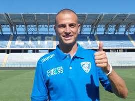 Luca Antonelli a signé à Empoli. Twitter/EmpoliCalcio