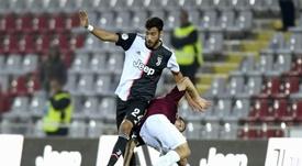 Frabotta no decepcionó en el carril zurdo. Juventus