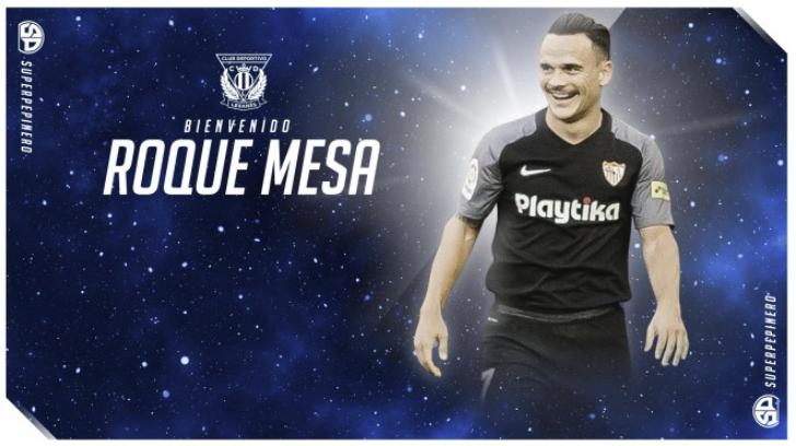 Roque Mesa llega procedente del Sevilla. CDLeganés