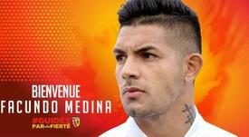 Facundo Medina firmó con el Twitter/RCLens