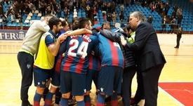 El Levante cambia de entrenador. Twitter/LUDfutbolsala
