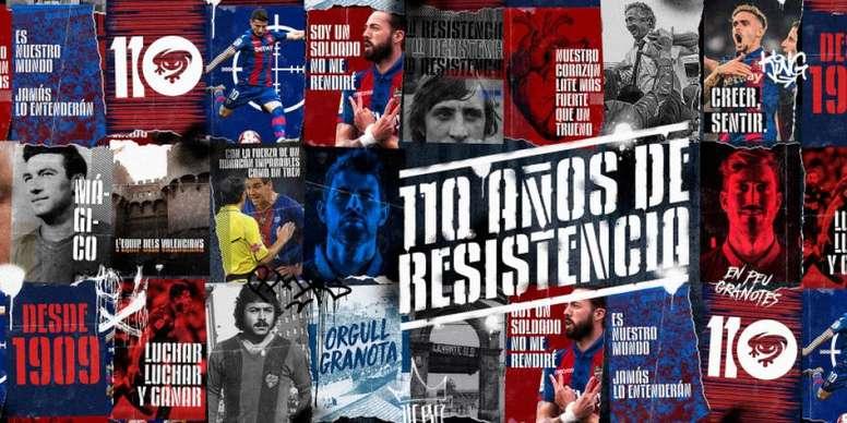 El Levante presume de 'La Resistencia'. LevanteUD