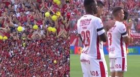 El Libertadores de América homenajeó a Sala. Captura/FOXSports
