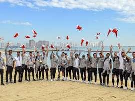 Liverpool fête son titre à la plage. LFC