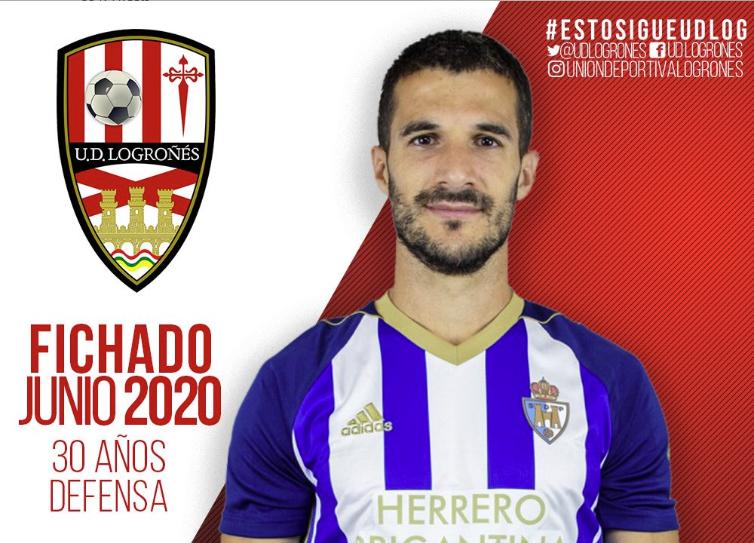 El Logroñés hizo oficial la incorporación de Zabaco hasta final de temporada. Twitter/UDLogrones