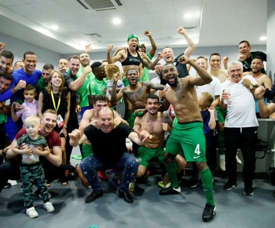 Ludogorets won the league. Twitter/Ludogorets1945