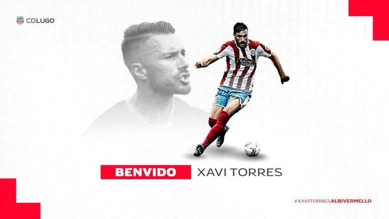 Xavi Torres, 'albivermello' durante un curso. Twitter/CDeportivoLugo