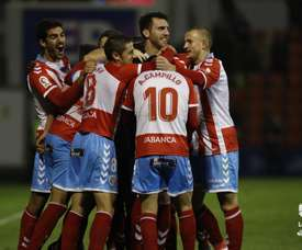Cristian Herrera abrió el marcador tras un penalti a favor del Lugo. LaLiga