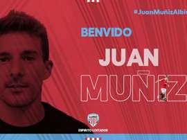 Juan Muñiz firma por dos temporadas. Twitter/CDeportivoLugo