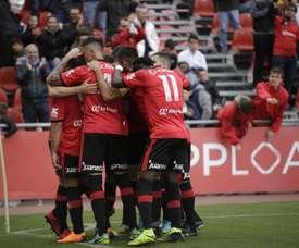 El Mallorca empezó goleando y acabó pidiendo la hora. Twitter/RCD_Mallorca