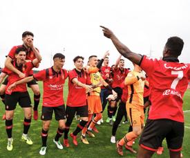 El Mallorca se coronó campeón del Grupo 3 de Segunda División B. Twitter/RCD_Mallorca