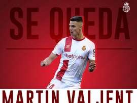 Majorque officialise le recrutement de Martin Valjent. Twitter/RCD_Mallorca