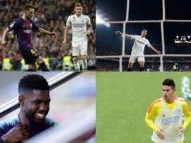 Os quatro alvos do Manchester United. EFE/BeSoccer