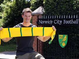 Christoph Zimmermann was disappointed as his team were beaten by Stoke. NorwichCityFC
