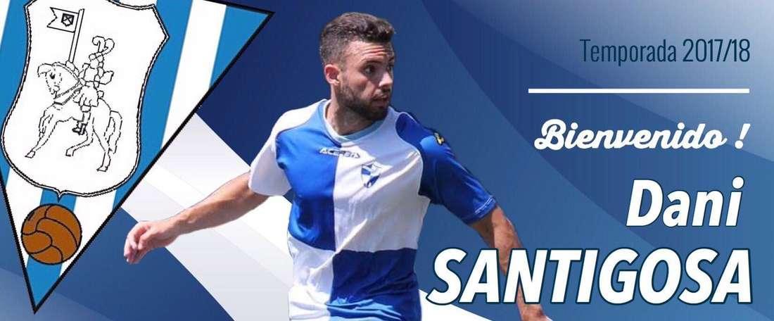 Daniel Santigosa, nuevo jugador del Ejea. SDEjea
