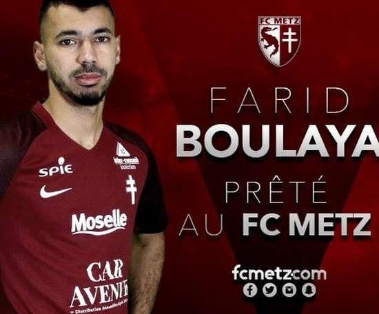 Boulaya vuelve a Francia para jugar como cedido. Twitter/FCMetz
