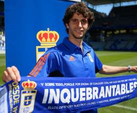 El jugador italiano compareció ante los medios. RealOviedo