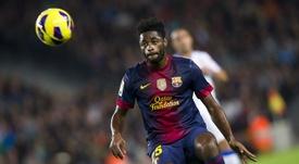Song in action for Barcelona. FCBarcelona