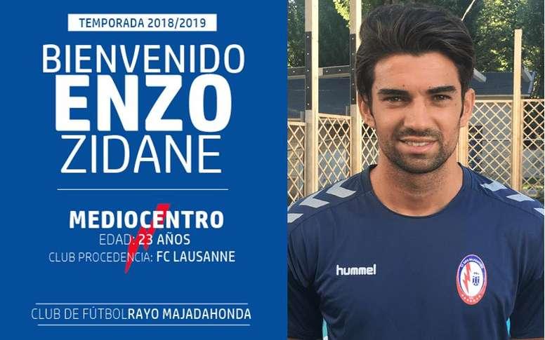 Enzo Zidane jouera en seconde division. CFRayoMajadahonda