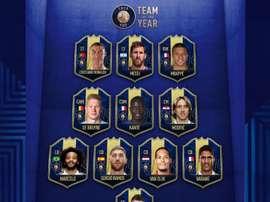 FIFA 19 a élu les joueurs de l'année. Twitter/EASportsFIFA