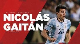 Gaitán firma hasta 2019 con opción a una temporada más. ChicagoFire