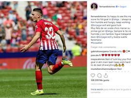Félicitations de Torres. Instagram/FernandoTorres